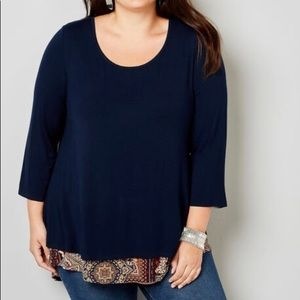 New w tags, navy blue layered tunic size 18/20